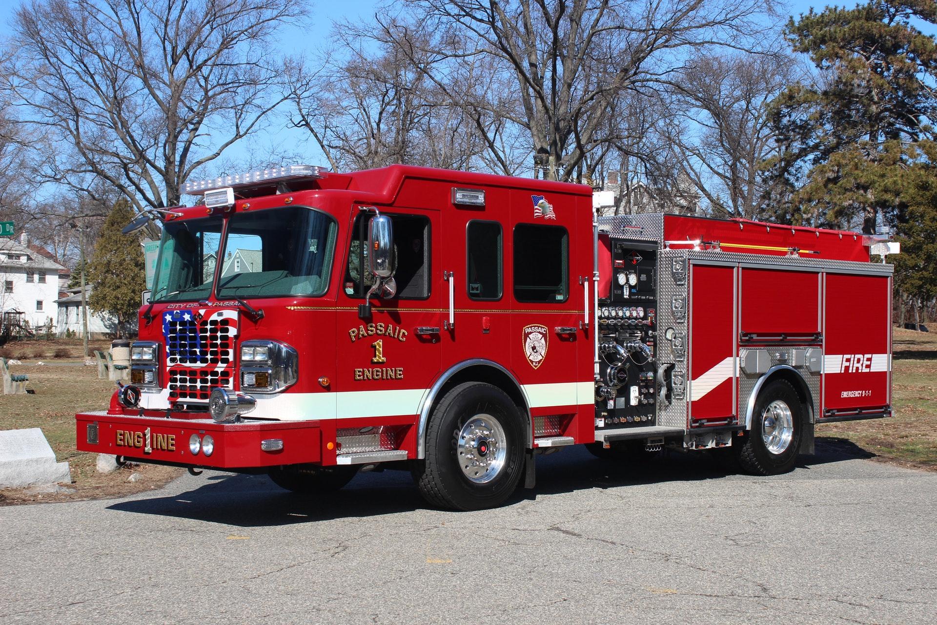 passaic  nj  fire dept  puts new engine  built by spartan