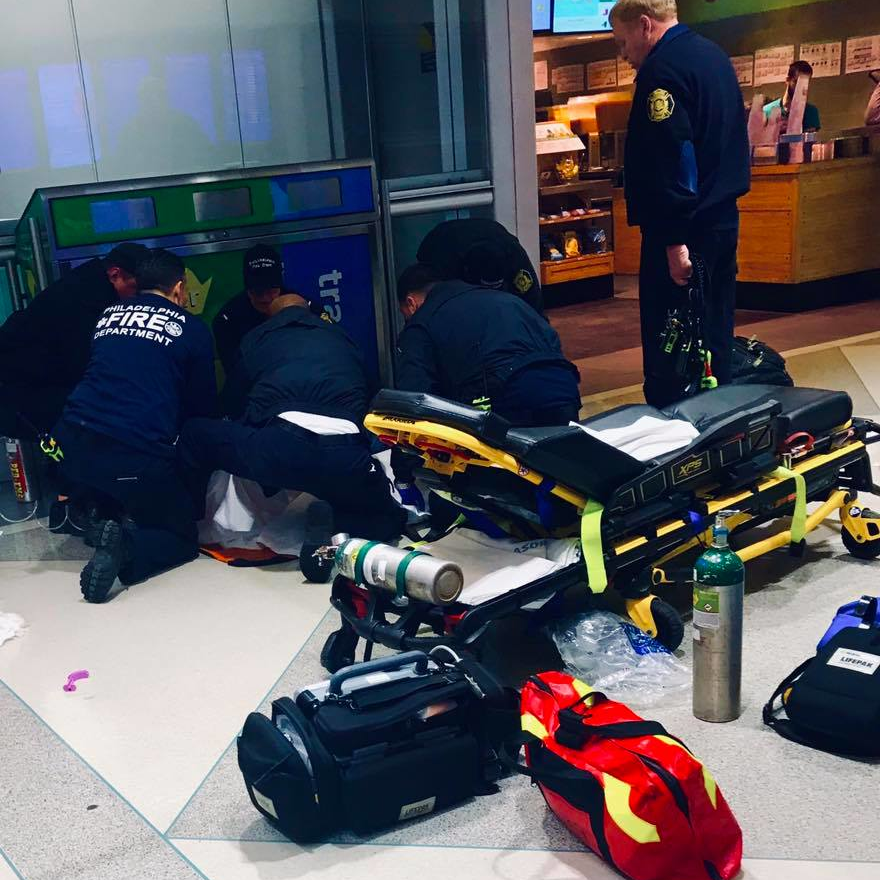 Certified EMT Helps Heart Attack Victim In Philly Airport