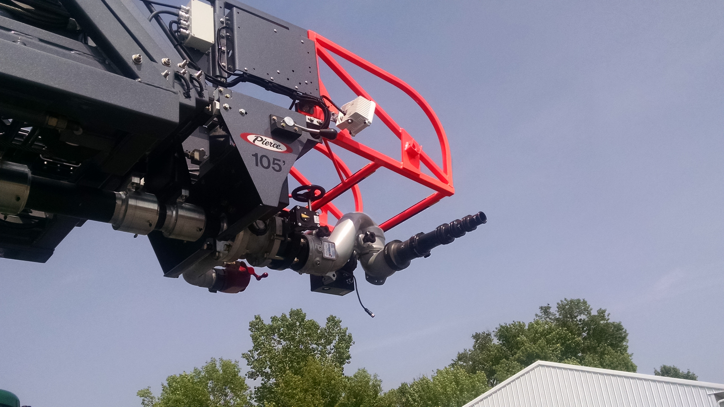 Aerial devices that are equipped with waterways and prepiped monitors should be reviewed to confirm horizontal and vertical movements and the rated gpm flow at all angles of operation., Aerial operation, including waterway testing, should be conducted during final inspection to confirm performance requirements.