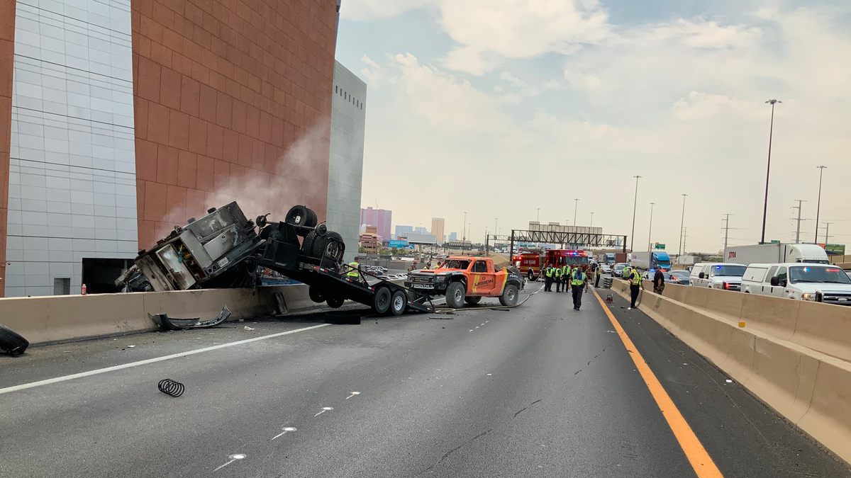 Three Killed In Las Vegas Crash Between Car Truck Firehouse